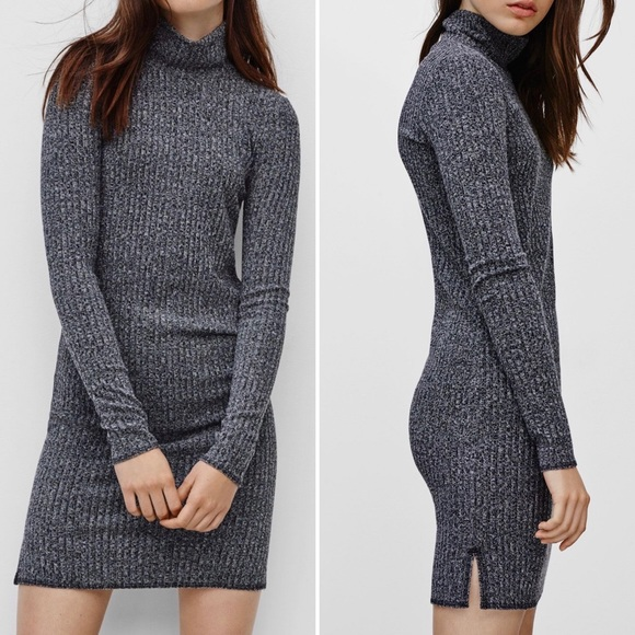 Wilfred Mariel High Neck Sweater Dress Grey S EUC